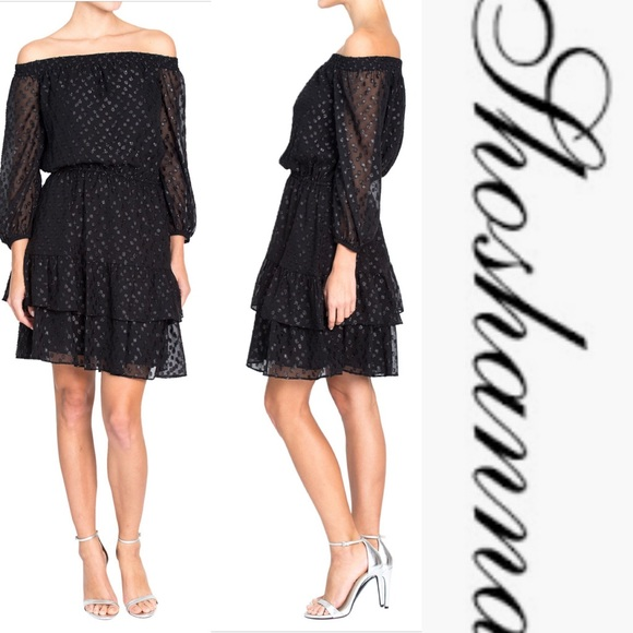 Shoshanna Dresses & Skirts - Shoshanna Off The Shoulder Cocktail Dress